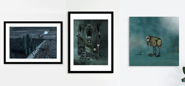 Fine art exclusive prints on Curioos